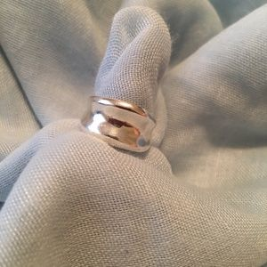 Sterling silver cigar band ring size 5